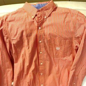 Dress shirt stripped Burnt orange